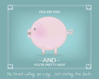 Pigs are Pink: freebie