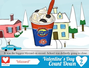 noun submission: blizzard