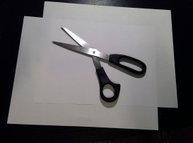 "All you need is two sheets of paper (8.5"" by 11"") and a pair of scissors."