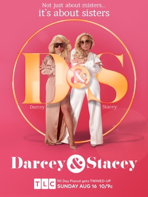 Darcey & Stacey: key art evoluion
